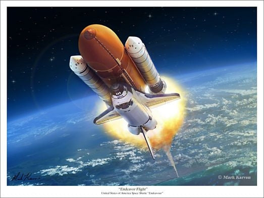 """Endeavour"" - Giclee Print  11"" x 14"" or 18"" x 24"" - The Space Store"