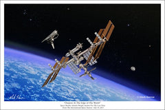 "International Space Station ""Outpost At The Edge of The World"" in 11"" x 14"" or 16"" x 24"""