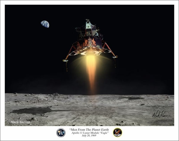 "Apollo Lunar Module  ""Men From The Planet Earth"" - Giclee Art Print - The Space Store"