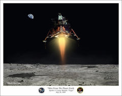 "Apollo Lunar Module  ""Men From The Planet Earth"" - Giclee Art Print"