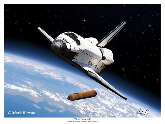 """Orbit Achieved"" - Giclee Print  11"" x 14"" OR 18"" X 24"" - The Space Store"