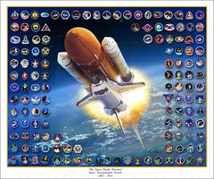 """The Space Shuttle Missions"" - Giclee Print  11"" x 14"" or 20"" x 24