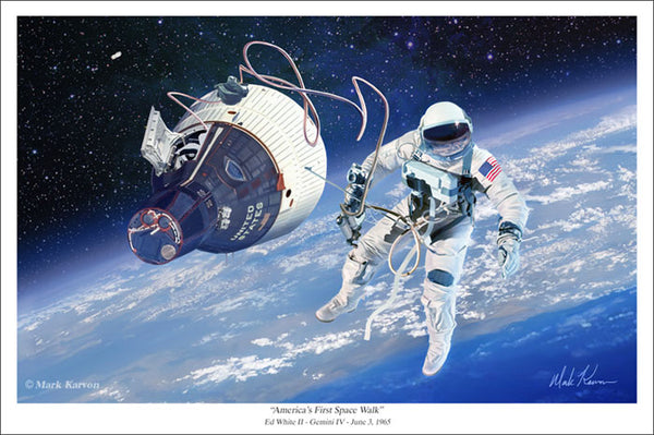"""America's First Space Walk"" - 11"" x 14"" or 16"" x 24"" - The Space Store"