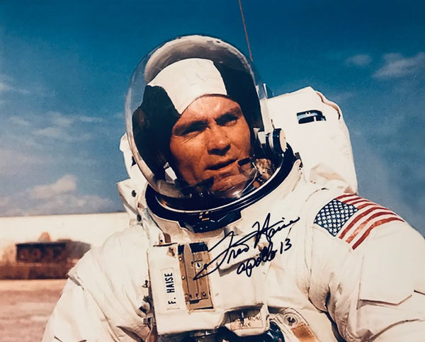 FRED HAISE AUTOGRAPHED PHOTO - The Space Store