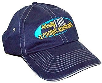 """Actually, I AM a Rocket Scientist"" Cap - The Space Store"