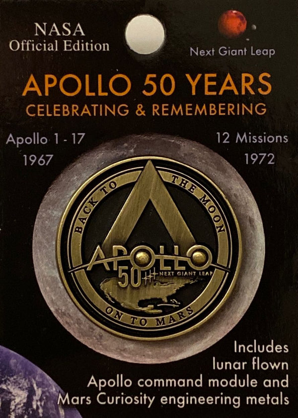 APOLLO 50 YEARS LAPEL PIN - The Space Store