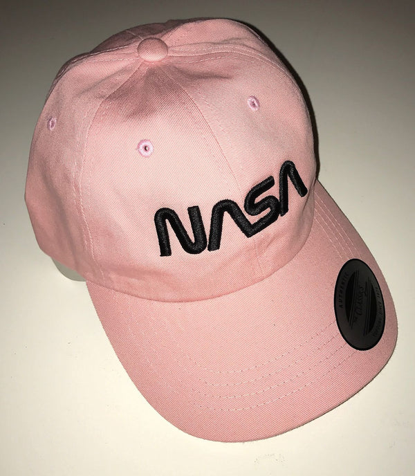 NASA Worm Logo Unstructured Classic Dad Cap, with 'Puffy' Style Logo - The Space Store