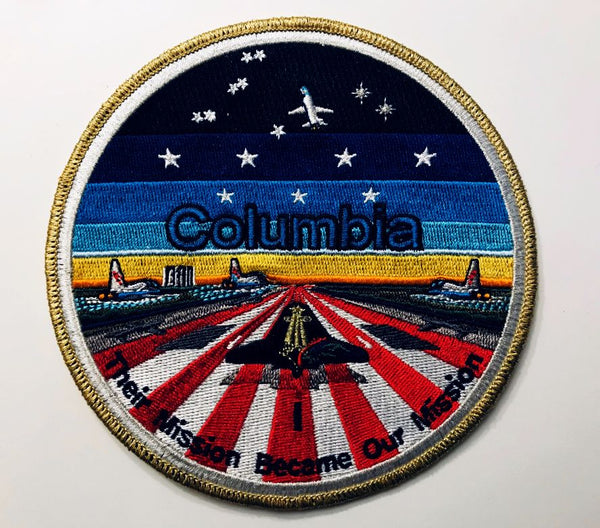 COLUMBIA STS-107 MEMORIAL PATCH by Artist Tim Gagnon - The Space Store