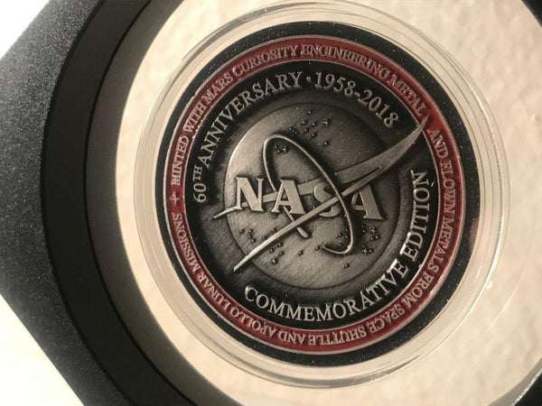 NASA 60TH ANNIVERSARY Official Limited Edition Medallion with COA Card - The Space Store
