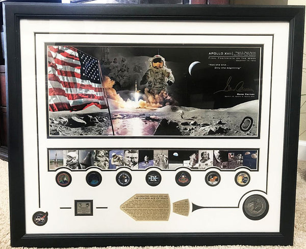 Celebrating 'Apollo XVII and the Golden Age of Space' 'Cernan Artist's Proof Frame'