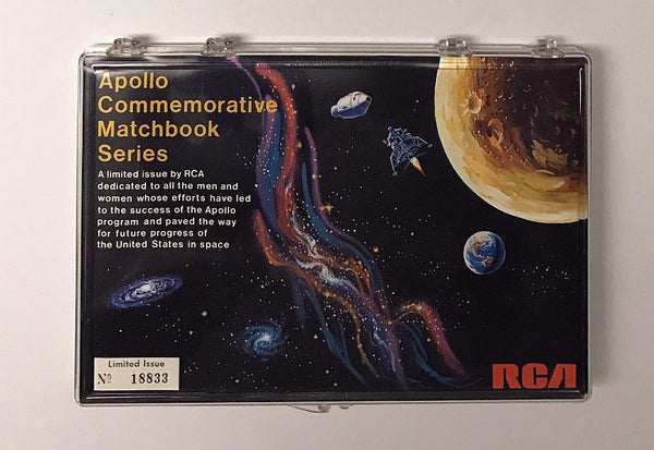 VINTAGE NASA APOLLO RCA COMMEMORATIVE MATCHBOOK SERIES SET