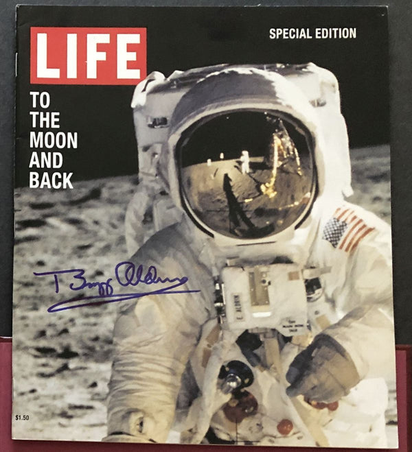 Buzz Aldrin hand signed LIFE Magazine Collector's Series Magazine - The Space Store