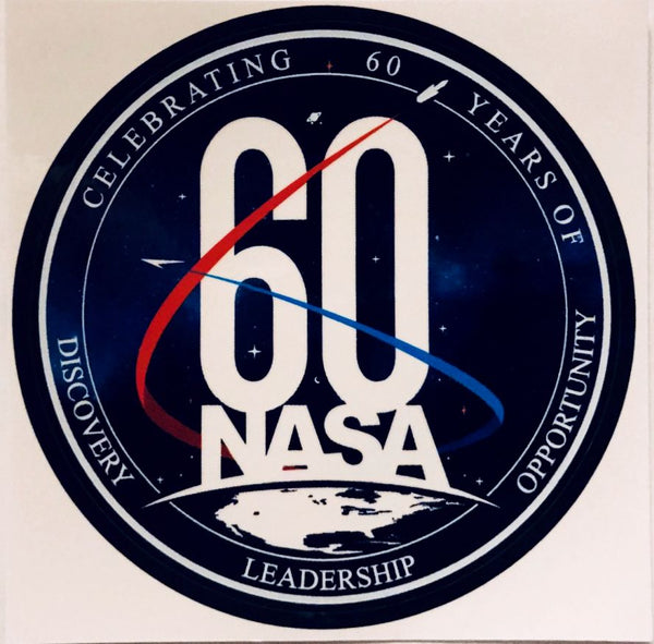 NASA 60th ANNIVERSARY LOGO STICKER