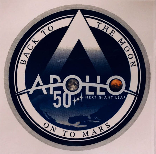 APOLLO 50 'NEXT GIANT LEAP' STICKER - The Space Store