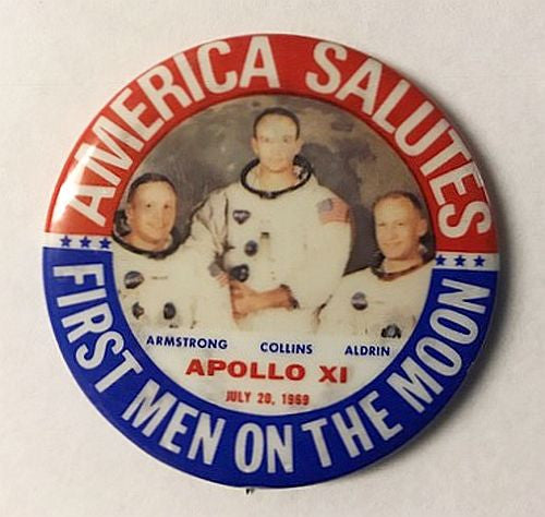 Vintage Apollo 11 Moon Landing Button - The Space Store