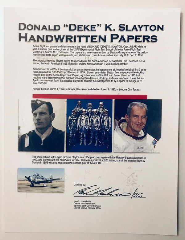 DEKE SLAYTON HANDWRITTEN PAPERS - The Space Store