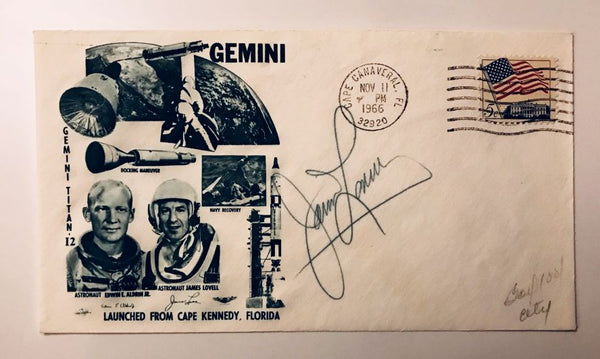 JAMES LOVELL SIGNED GEMINI 12 COVER - The Space Store