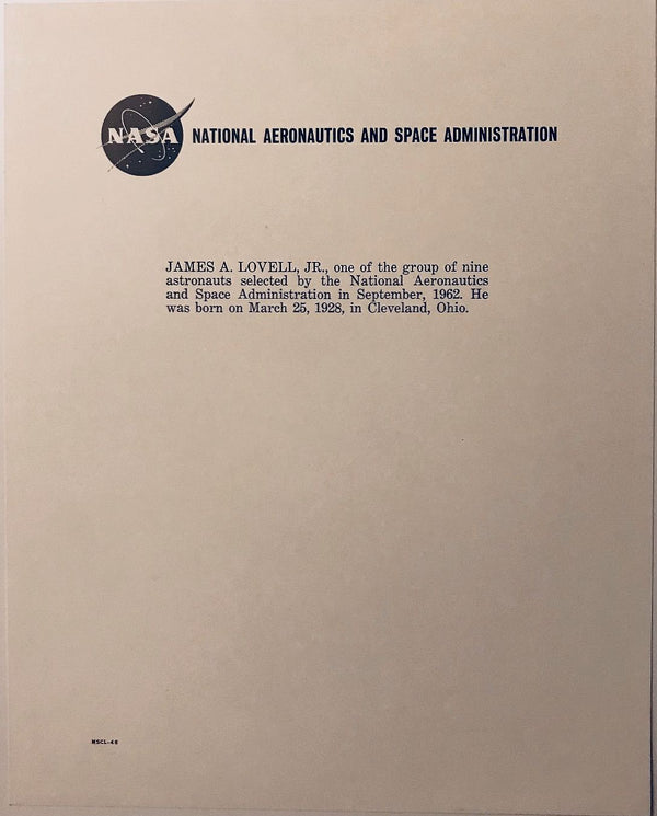 JAMES LOVELL VINTAGE WSS SIGNED ORIGINAL NASA LITHO - The Space Store