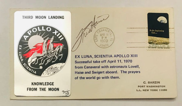 APOLLO 13 COVER SIGNED BY FRED HAISE - The Space Store