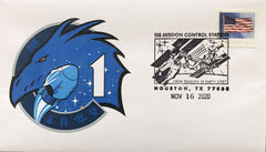 NASA - SPACEX Crew-1 Docking Cover with Crew-1 logo.