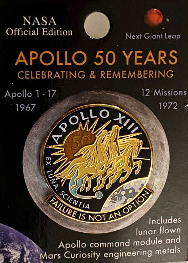 Apollo 13 50th Anniversary Limited Edition Lapel Pin