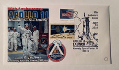 50TH Anniversary APOLLO 11 Mission to the Moon Cover w/ July 16 launch photo.