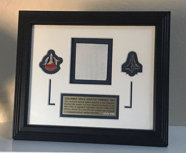 Exclusive Limited Edition Columbia Space Shuttle Thermal Tile - The Space Store