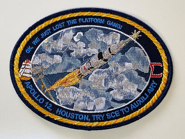 Apollo 12 Yankee Clipper and the Mission Control Sigma patch. - The Space Store