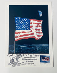 Moon Landing 50th Anniversary Card, with the Space Art of Detlev van Ravenswaay