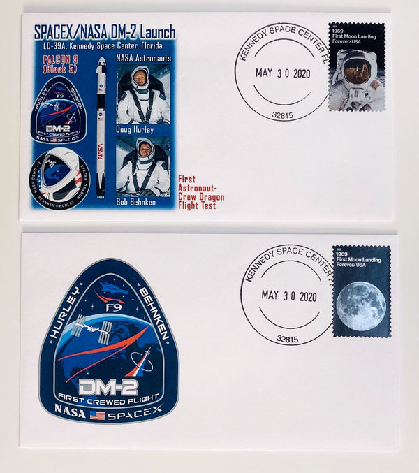 DM-2 launch cachet covers from KSC - 2 versions