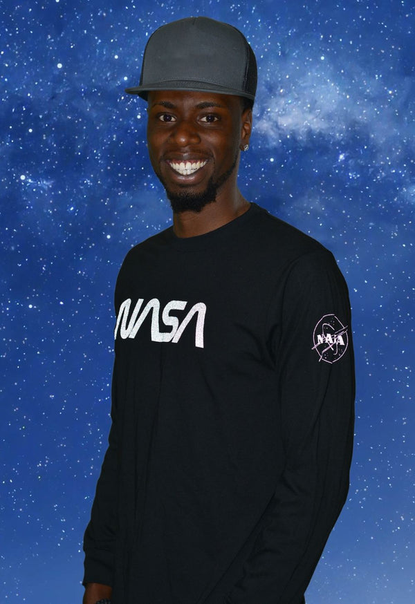 NASA Logo Reflective Long Sleeve Tee