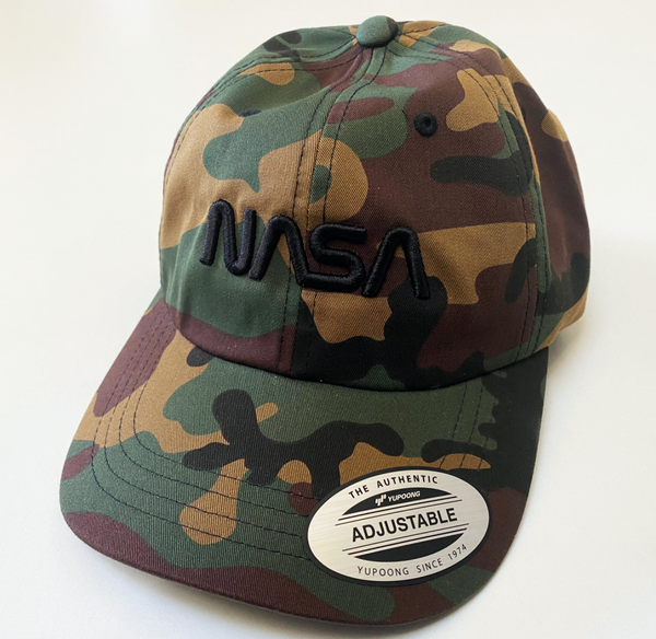 NASA Worm Logo Cap with 'Puffy' Style Logo - NEW for 2020! - The Space Store