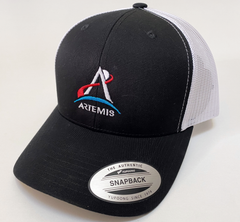 Artemis Program Retro Trucker Cap in Navy or Black