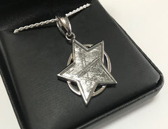 Muonionalusta Meteorite Pendant with Star