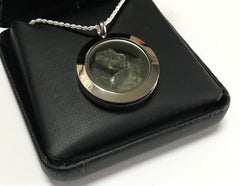 LOCKET NECKLACE WITH MOLDAVITES