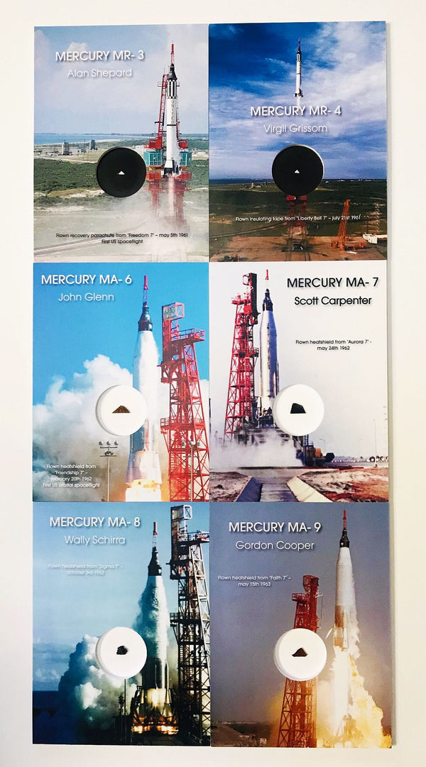 MERCURY - FLOWN ARTIFACTS OF ALL 6 MANNED FLIGHTS - The Space Store