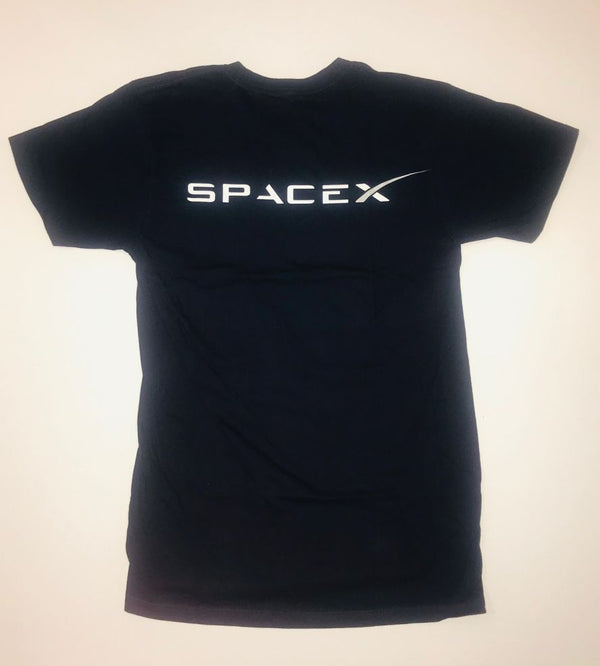 SPACEX LOGO T-SHIRT - NAVY BLUE - UNISEX - The Space Store