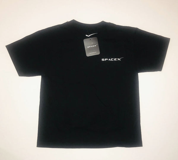 SPACEX DRAGON T-SHIRT in YOUTH SIZING. Black with Silver Logo - The Space Store