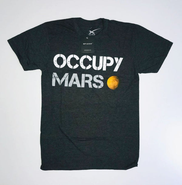 OCCUPY MARS T-SHIRT in Charcoal - ADULT UNISEX - The Space Store