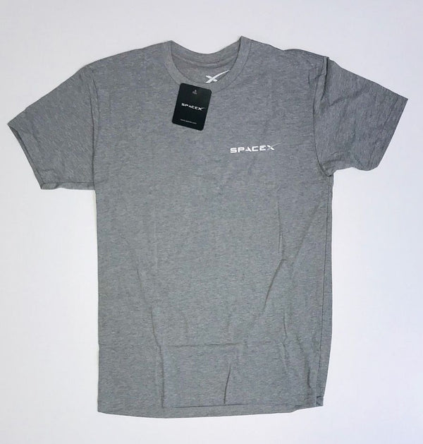 SPACEX FALCON HEAVY T-SHIRT IN HEATHER GRAY - The Space Store