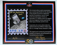 Apollo 8 Limited Edition Patch - numbered and signed by artist Tim Gganon