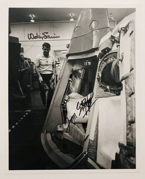 Gemini 6 Crew Autographed 8x10 - Walter Schirra and Thomas Stafford. - The Space Store