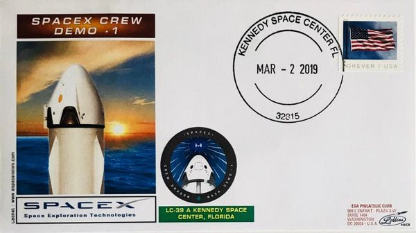 SPACEX CREW DEMO-1 COVER - The Space Store