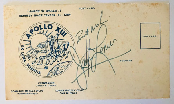 APOLLO 13 JAMES LOVELL SIGNED COVER - The Space Store