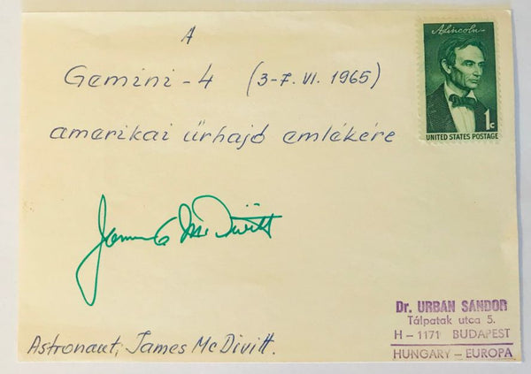 ASTRONAUT JIM McDIVITT SIGNED GEMINI 4 COVER - The Space Store