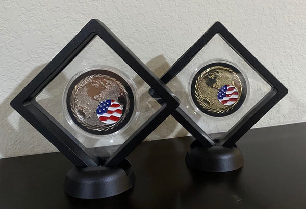 NASA SpaceX Crew 1 and 2 Coins Bundle