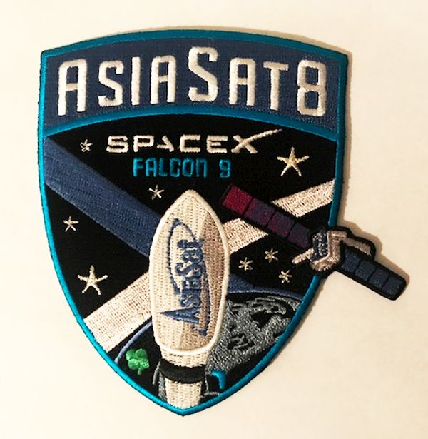 SPACEX ASIASAT 8 MISSION PATCH - The Space Store