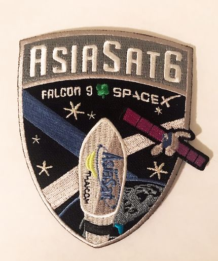 SPACEX ASIASAT 6 MISSION PATCH - The Space Store