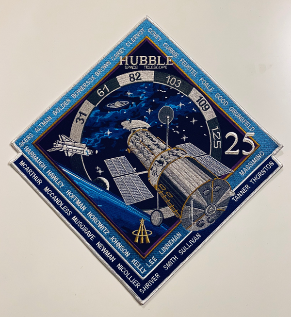 "Hubble Space Telescope 25th Anniversary 12"" Commemorative Patch - The Space Store"