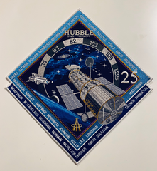 "Hubble Space Telescope 25th Anniversary 12"" Commemorative Patch"